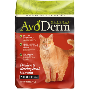 AvoDerm Adult Cat Food Chicken & Herring Meal Formula
