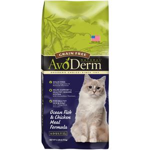 AvoDerm Adult Cat Food Ocean Fish & Chicken Meal Formula
