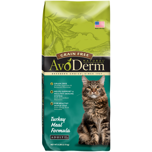 AvoDerm Adult Cat Food Turkey Meal Formula