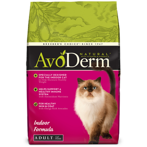 AvoDerm Adult Cat Food Indoor Hairball Care Formula