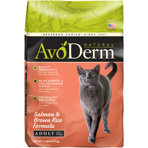 AvoDerm Adult Cat Food Salmon & Brown Rice Formula