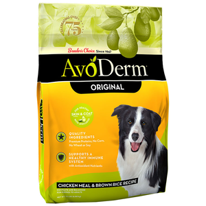 AvoDerm Adult Dog Food Chicken Meal & Brown Rice Formula