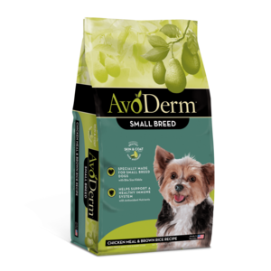 AvoDerm Adult Dog Food Chicken Meal & Brown Rice Formula For Small Breed Dogs