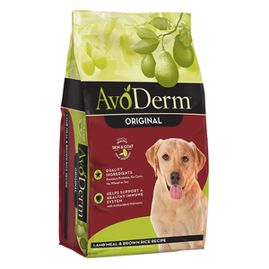 AvoDerm Adult Dog Food Lamb Meal & Brown Rice Formula