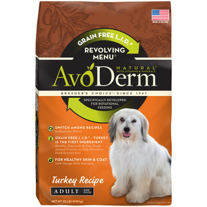 AvoDerm Revolving Menu Turkey Recipe For Adult Dogs