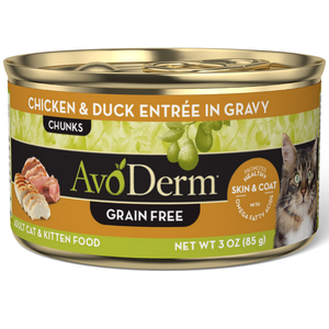 AvoDerm All Life Stages Cat Food Chicken & Duck Entree In Gravy