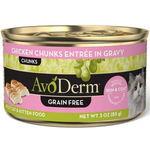 AvoDerm All Life Stages Cat Food Chicken Chunks Entree In Gravy