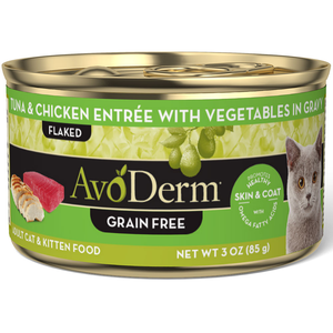AvoDerm Growth & Maintenance Cat Food Tuna & Chicken Entree With Vegetables In Gravy