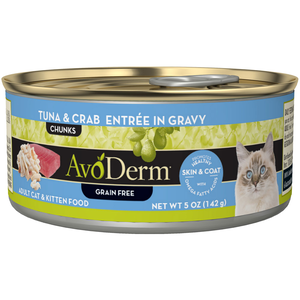AvoDerm All Life Stages Cat Food Tuna & Crab Entree In Gravy