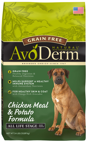 AvoDerm All Life Stages Dog Food Chicken Meal & Potato Formula