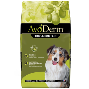 AvoDerm All Life Stages Dog Food Triple Protein Meal Formula
