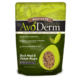 AvoDerm Biscuits Dog Treats Duck Meal and Potato Recipe Biscuits
