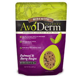 AvoDerm Biscuits Dog Treats Oatmeal and Berry Recipe Biscuits