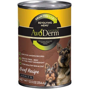 AvoDerm Revolving Menu Beef Recipe For Adult Dogs