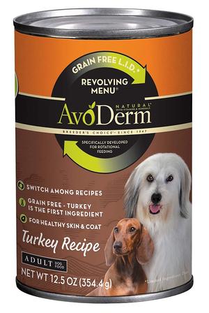 AvoDerm Revolving Menu Turkey Recipe For Adult Dogs