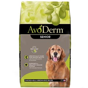 AvoDerm Senior Dog Food Chicken Meal & Brown Rice Formula