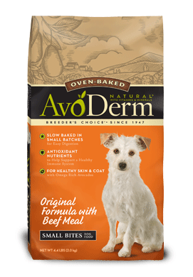 AvoDerm Small Bites Dog Food Original Formula With Beef Meal