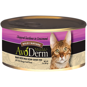 AvoDerm Wild By Nature Chopped Sardines In Consomme