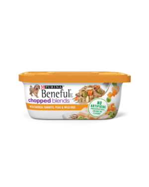Beneful Chopped Blends With Chicken, Carrots, Peas, and Wild Rice