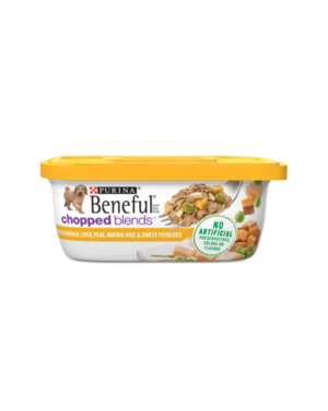 Beneful Chopped Blends With Chicken, Liver, Peas, Brown Rice & Sweet Potatoes