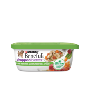 Beneful Chopped Blends With Lamb, Brown Rice, Carrots, Tomatoes, and Spinach