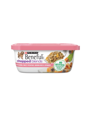 Beneful Chopped Blends With Salmon, Sweet Potatoes, Brown Rice & Spinach