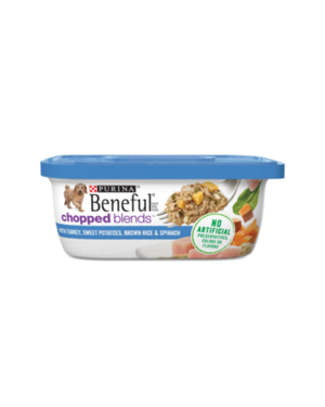 Beneful Chopped Blends With Turkey, Sweet Potatoes, Brown Rice & Spinach