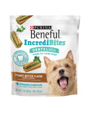 Beneful IncrediBites Dental Minis Peanut Butter Flavor