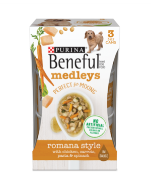 Beneful Medleys Romana Style With Chicken, Carrots, Pasta & Spinach
