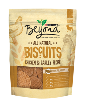 Purina Beyond Natural Dog Snacks Biscuits Chicken & Barley Recipe