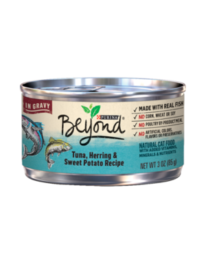 Purina Beyond In Gravy Tuna, Herring & Sweet Potato Recipe