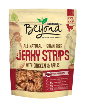 Purina Beyond Natural Dog Snacks Jerky Strips With Chicken & Apples