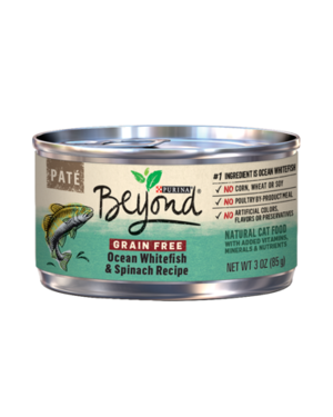 Purina Beyond Paté Grain Free Ocean Whitefish & Spinach Recipe