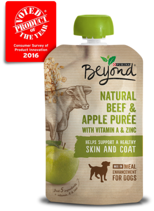 Beyond Purees Natural Beef and Apple Puree With Vitamin A and Zinc