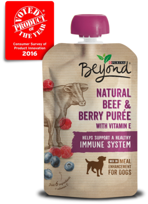 Purina Beyond Purees Natural Beef and Berry Puree With Vitamin E