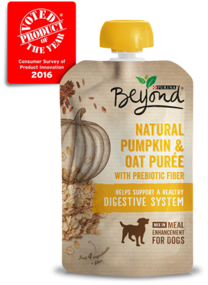 Purina Beyond Purees Natural Pumpkin and Oat Puree With Prebiotic Fiber