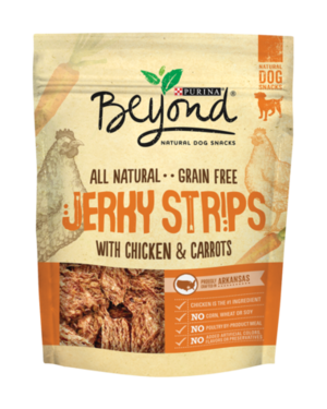 Purina Beyond Natural Dog Snacks Jerky Strips With Chicken & Carrots