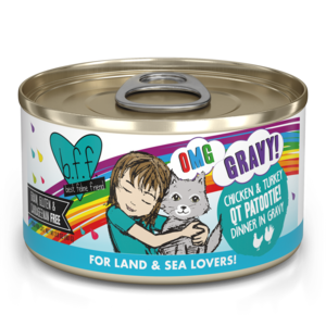 B.F.F. Best Feline Friend Oh My Gravy! QT Patootie - Chicken & Turkey Dinner In Gravy