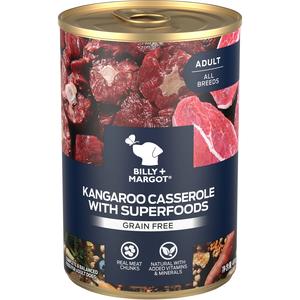 Billy + Margot Canned Dog Food Wild Kangaroo Casserole ...
