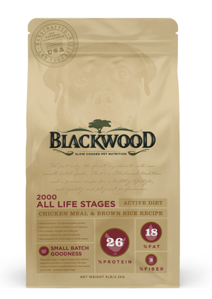 Blackwood 2000 All Life Stages Active Diet - Chicken Meal With Brown Rice