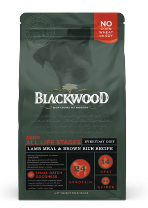 Blackwood 3000 All Life Stages Everyday Diet - Lamb Meal & Brown Rice Recipe
