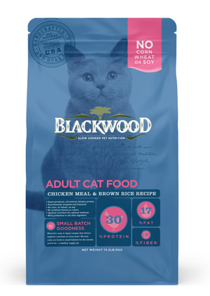 Blackwood Adult Cat Food Chicken Meal & Brown Rice Recipe