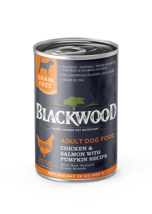 Blackwood Adult Dog Food Chicken, Salmon and Pumpkin Recipe