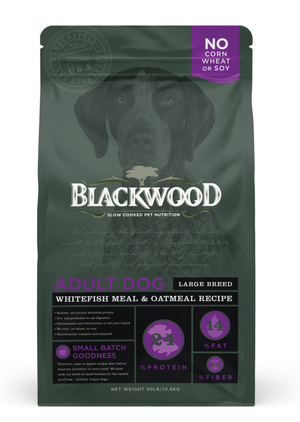 Blackwood Adult Dog Large Breed Whitefish Meal and Oatmeal Recipe