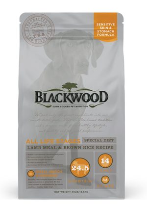 Blackwood All Life Stages Special Diet - Lamb Meal & Brown Rice Recipe