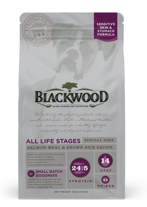 Blackwood All Life Stages Special Diet - Salmon Meal & Brown Rice Recipe