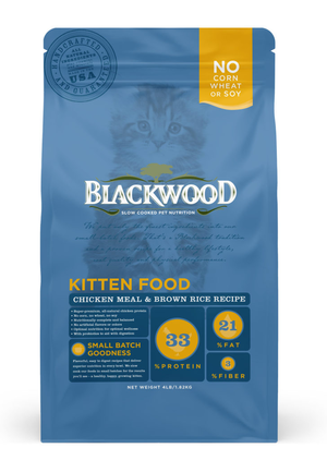 Blackwood Kitten Food Chicken Meal and Brown Rice Recipe