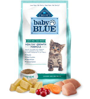 Blue Buffalo Baby Blue Grain-Free Chicken and Pea Recipe For Kittens