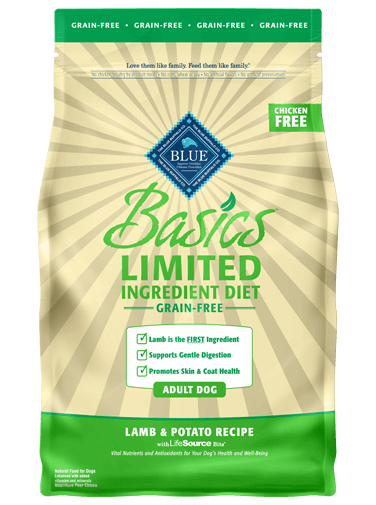 Blue Buffalo Basics Grain-Free Lamb and Potato Recipe For Adult Dogs