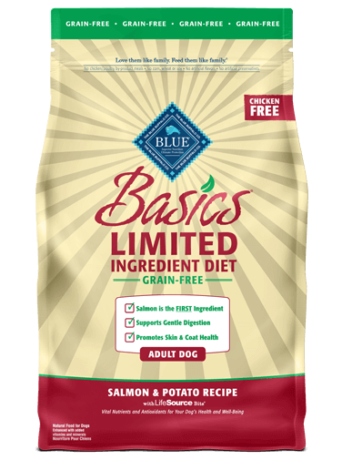 Blue Buffalo Basics Limited Ingredient Grain-Free Salmon & Potato Recipe For Adult Dogs